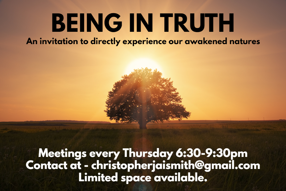 Being In Truth – Open Meeting